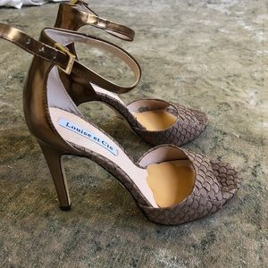 Louise et Cie heels with ankle strap